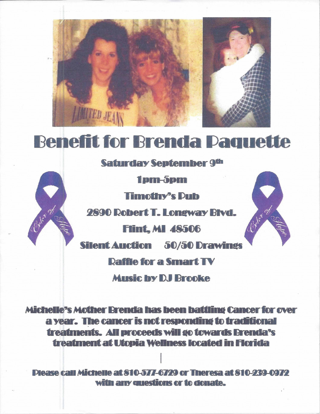 Benefit for Brenda Paquette